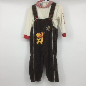 Disney Baby Brown Winnie the Pooh Overall Set 18M